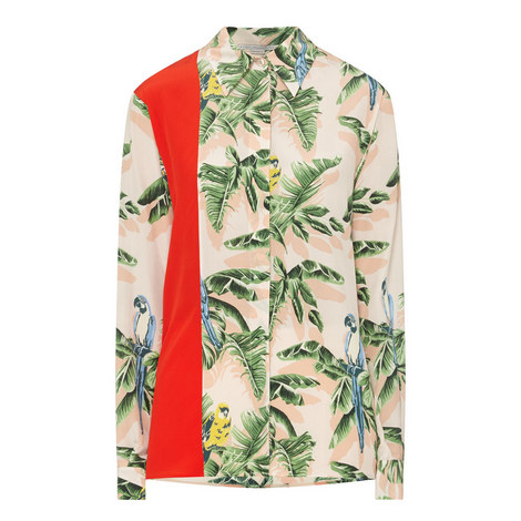 Long Sleeve Parrot Shirt, ${color}
