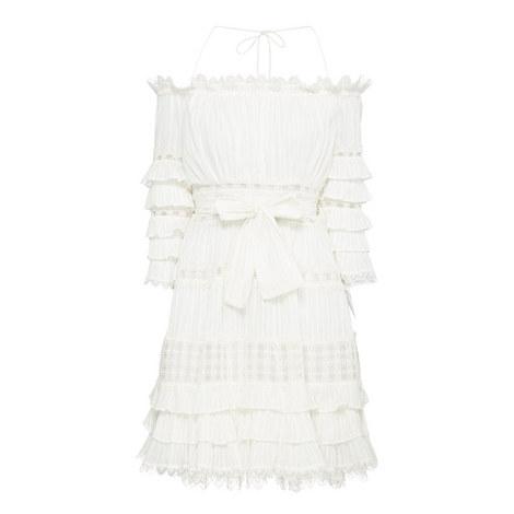 Frill Tier Off-Shoulder Dress, ${color}