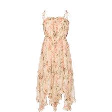Prima Bow Floral Print Dress