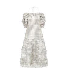 Striped Folded Dress.