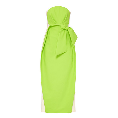 Strapless Bow Detail Dress , ${color}