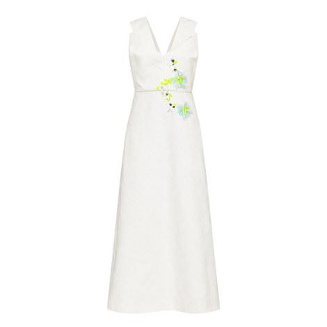 Embroidered Fil Coupé Dress , ${color}