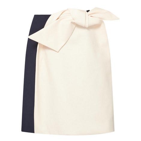 Bi-Colour Front Bow Skirt, ${color}
