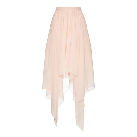 Georgette Long Skirt, ${color}