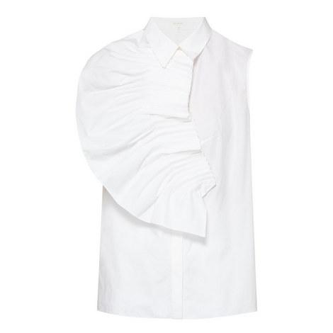 Pintuck Fan Shirt, ${color}