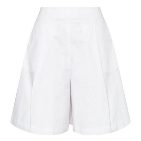 Pleated Bermuda Shorts, ${color}