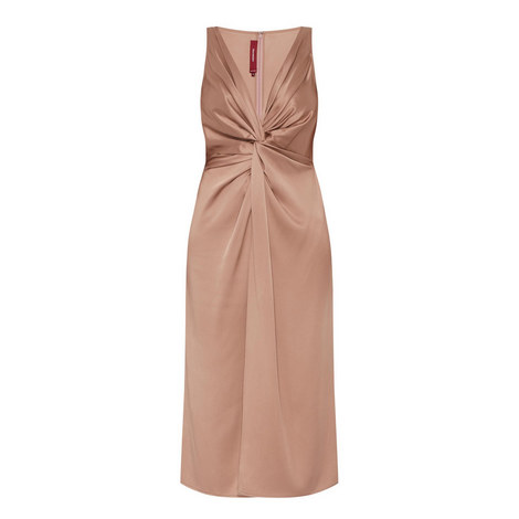 Mia Satin Twist Dress, ${color}