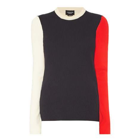 Colour-Block Ribbed Sweater, ${color}