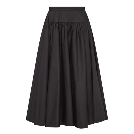 Flared Midi Skirt , ${color}