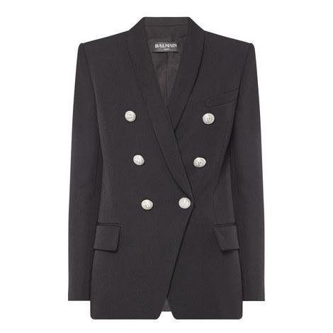 Classic Six-Button Blazer, ${color}