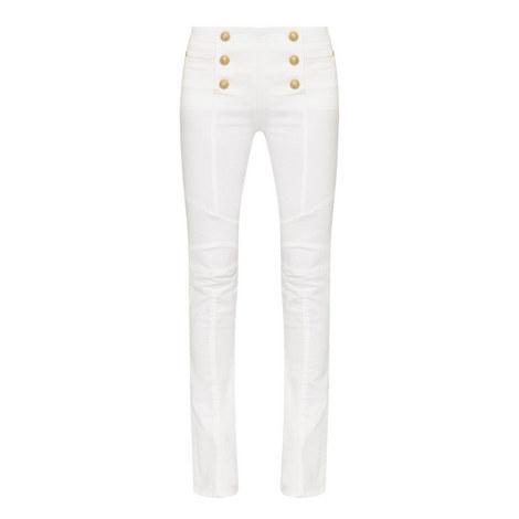 Six-Button Slim Fit Jeans, ${color}