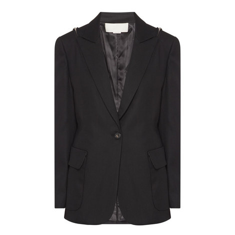 Zip Shoulder Tuxedo Jacket, ${color}