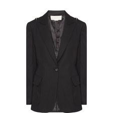 Zip Shoulder Tuxedo Jacket