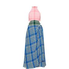 Tri-Colour Plaid Dress