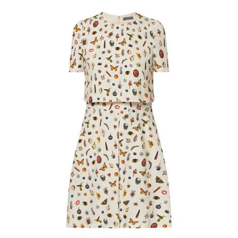 Obsession Print Trompe L'oiel Dress, ${color}
