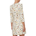 Round Neck Obsession Print Dress, ${color}