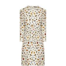 Round Neck Obsession Print Dress