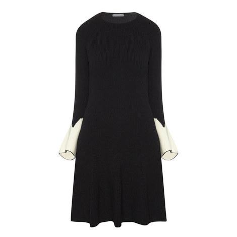 Flared Sleeve Mini Dress, ${color}