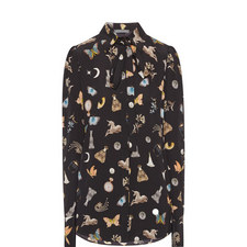 Obsession Print Silk Blouse