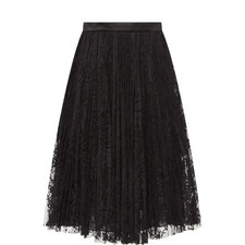 Satin Trim Lace Skirt