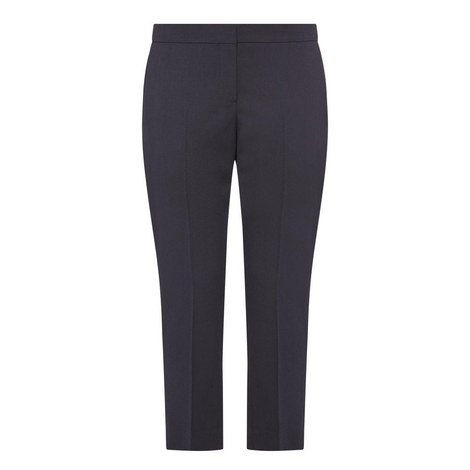Cropped Cigarette Trousers, ${color}