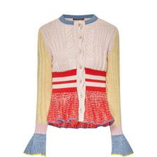 Multi-Knit Peplum Cardigan