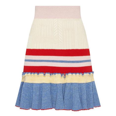 Knitted Peplum Skirt, ${color}