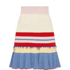 Knitted Peplum Skirt