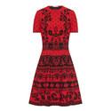 Floral Jacquard Knit Dress, ${color}