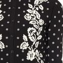 Floral Pattern Knit Jacket, ${color}