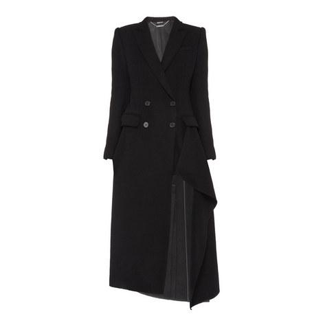 Draped Front Coat, ${color}