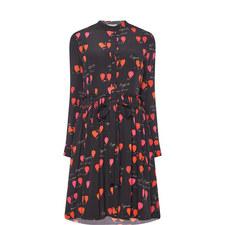Petal Print Shirt Dress
