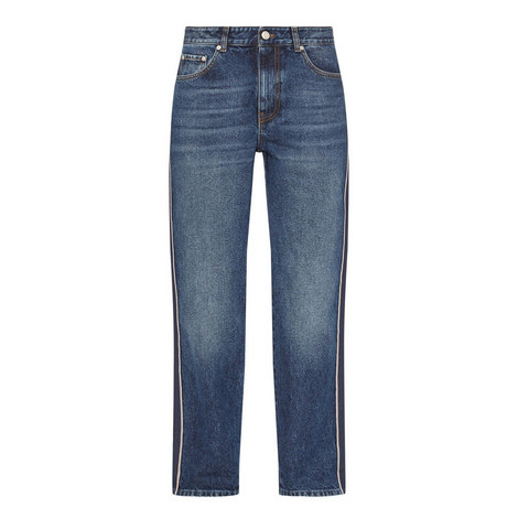 Striped Boyfriend Jeans, ${color}