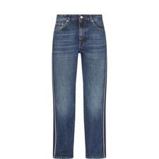 Striped Boyfriend Jeans