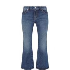 Vintage Wash Kick Flare Jeans