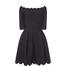 Scalloped Knit Dress