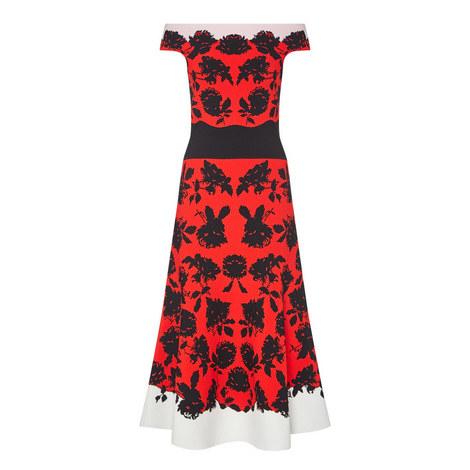 Off-Shoulder Knit Midi Dress, ${color}