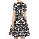 Intarsia Floral Pattern Dress, ${color}