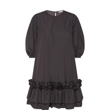 Three-Quarter-Sleeve Poplin Dress