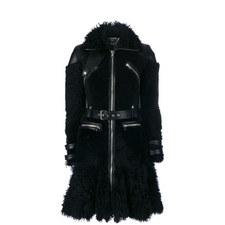 Shearling Biker Coat