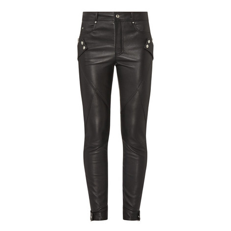 Leather Biker Trousers, ${color}