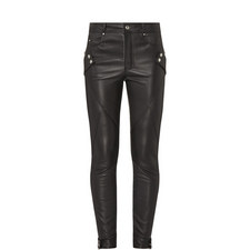 Leather Biker Trousers