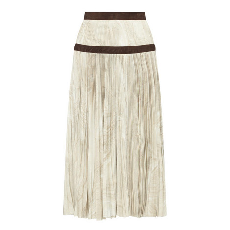 Marble Print Pleat Skirt, ${color}