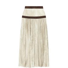 Marble Print Pleat Skirt