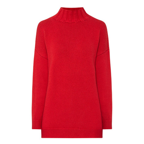 Funnel Neck Sweater, ${color}