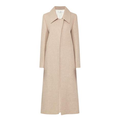 Long Open Front Coat, ${color}