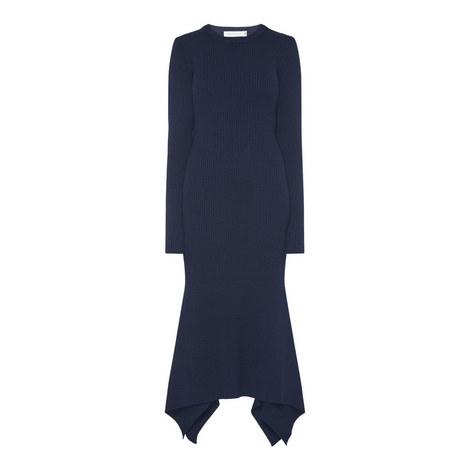 Ribbed Drape Dress, ${color}