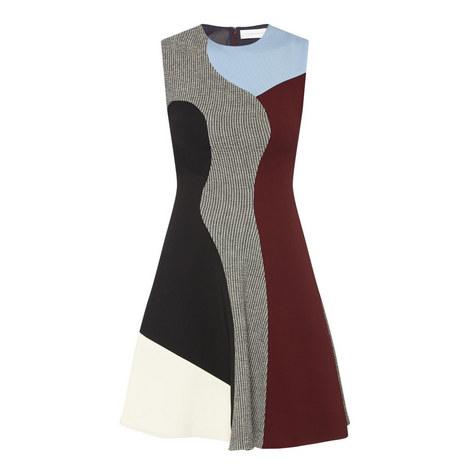 Sleeveless Flared Dress, ${color}