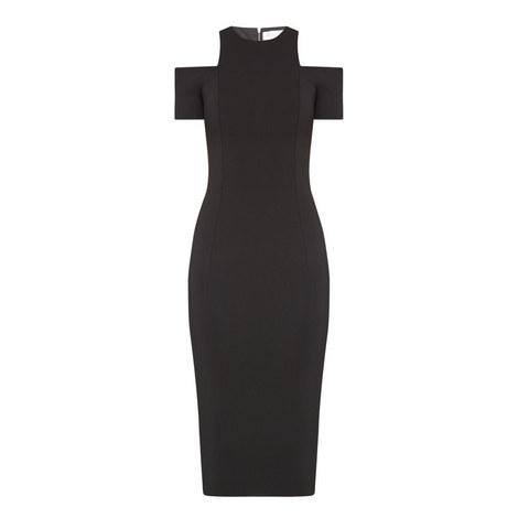 Cap Sleeve Cut-Out Dress, ${color}