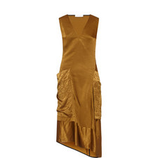 Satin Pocket Dress